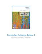OCR GCSE Computer Science Paper 1 Notes