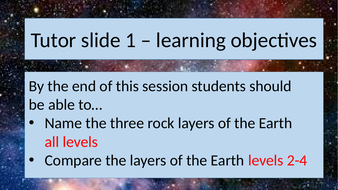 Activate 1 The structure of the Earth  7.1.1 KS3 lesson suitable for non-specialist