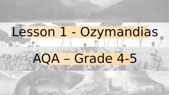 Ozymandias Low Ability (Power and Conflict AQA)