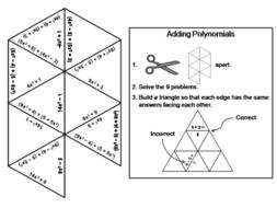 Adding Polynomials Game: Math Tarsia Puzzle by ScienceSpot