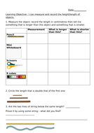 Measures - Length Worksheet for Lower and Higher.docx