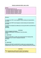 English Language child language AQA A level structure