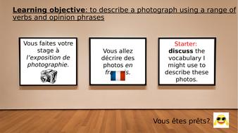 Describe a photo - GCSE speaking practise