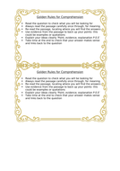 English- Golden Rules for comprehension