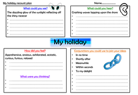 Holiday recount planning sheets & self-assessment