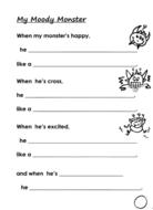 Moody Monster Writing