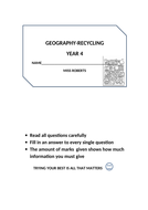 recycling worksheet/test