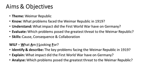 What problems faced the Weimar Republic in 1919?