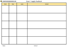 Supply-and-cover-feedback-sheets---Landscape---AcornTeachingResources.pptx