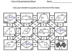Area of Quadrilaterals Activity: Trapezoid, Parallelogram