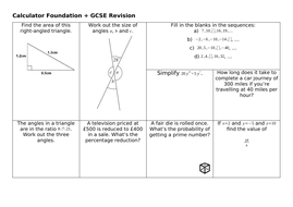 GCSE Calculator Revision Mats Set 3: Higher and Foundation