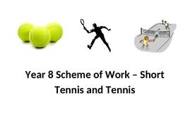 Year 8 Tennis Scheme of Work