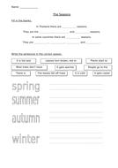 Seasons - Characteristics of 3 Seasons and 4 Seasons