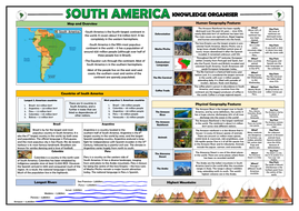 South America Knowledge Organiser/ Revision Mat!