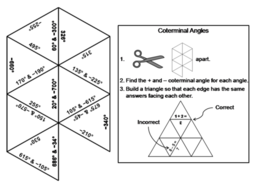 Coterminal Angles Activity: Math Tarsia Puzzle by