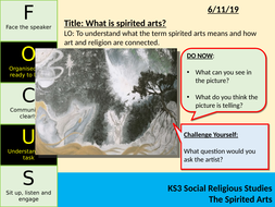 Spirited Arts Competition 2019 SOL for 'Questions, Questions'