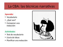Las técnicas narrativas en La Casa de Bernarda Alba:  PP introductoria