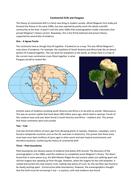 GCSE Geography - continental drift and Pangaea