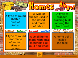 TYPES-OF-HOMES-BINGO.ppt
