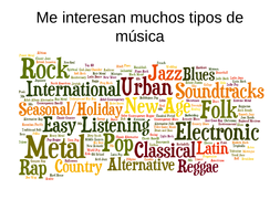 La música / Music / Types of music / Spanish music