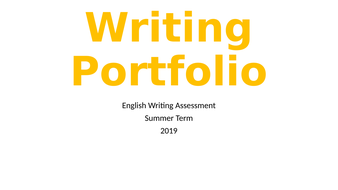 Writing-Portfolio--Summer-2019.pptx