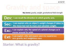 8Ld Gravity and space (Exploring Science)