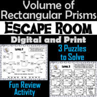 Volume of Rectangular Prisms Activity: Math Escape Room Geometry