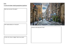 KS1 geographical enquiry