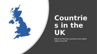 KS1 geography UK countries