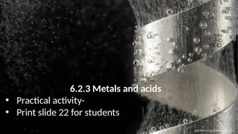 6.2.3 Metals and acids (AQA KS3 Activate 1)