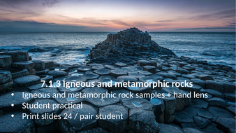 KS3 AQA Activate 7.1.3 Igneous and metamorphic rocks