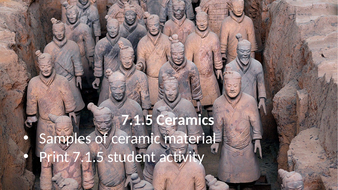 KS3 AQA Activate 7.1.5 Ceramics