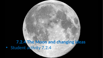 7.2.4 The Moon and changing ideas (AQA KS3 Activate 1)