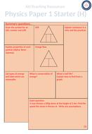AQA GCSE Physics Paper 1 Starter Questions
