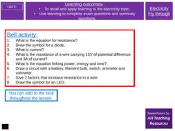 GCSE Physics Electricity Fly Through