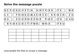 Solve the message puzzle about Friendship