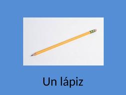En mi estuche - presentation of key vocab Mira 1