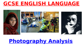 GCSE English Language - PHOTOGRAPHY (fun & informative lesson!)
