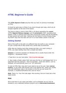 HTML for Beginner