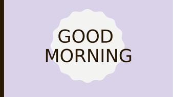 Starter of The Day Activity SODA morning soft start