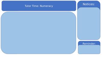 Tutor Time Editable Slides