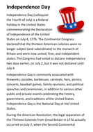 Independence Day Handout