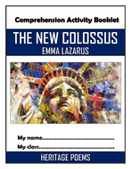 The New Colossus - Emma Lazarus - Comprehension Activities Booklet!