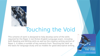 AQA Non-fiction preparation based on extracts from Joe Simpson's 'Touching the Void'