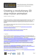 Creating a revolutionary 2D stop-motion animation