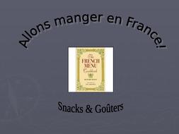 Le goûter - French snacks lesson starter