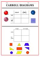 Carroll Diagrams Worksheet