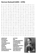 Norman Rockwell Word Search