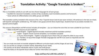 Google-Translate-is-broken!---TRANSLATION-ACTIVITY-MFL-PPT.pptx