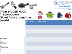 Yr9 Food Booklet + PowerPoints A Years worth! + Practicals